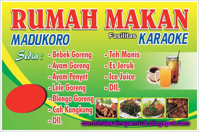 Banner Rumah Makan Madukoro | Contoh Desain Spanduk