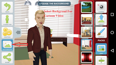 select backgroud for cartoon video creator