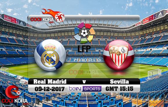 مشاهدة مباراة ريال مدريد وإشبيلية اليوم 9-12-2017 في الدوري الأسباني