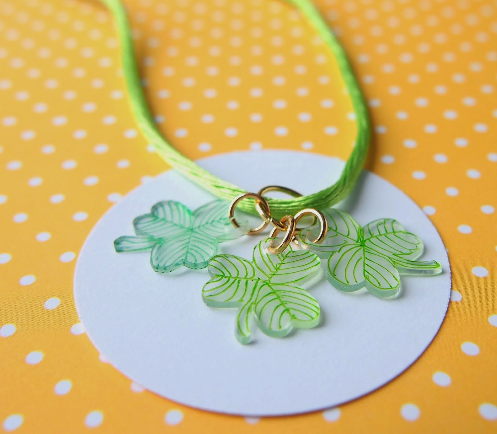 The Tiny Funnel Lucky Charm Necklaces Diy Shrinky Dinks
