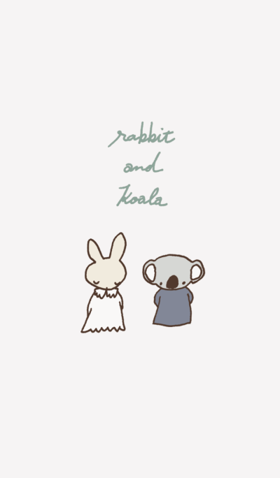 rabbit and koala