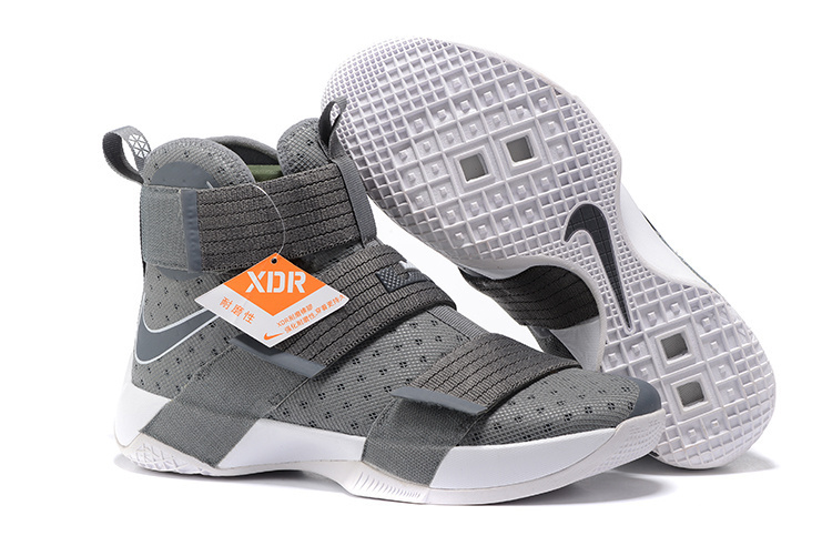 d6106ad0802 Nike LeBron Soldier 10 Grey White Sepatu Basket Premium 8 harga nike lebron  soldier original .