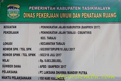 Peningkatan Jalan Taraju - Cibuntiris Tasikmalaya