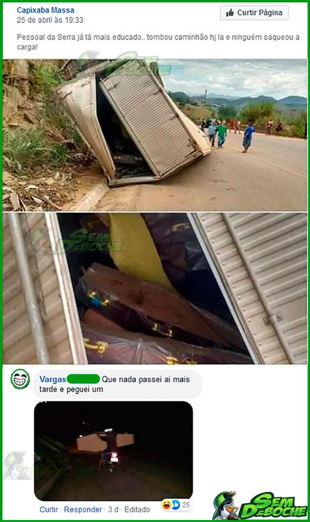 NEM ESSA CARGA AQUI A GALERA PERDOA DE ROUBAR