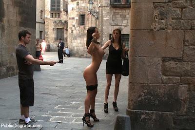 barcelona bdsm publc disgrace