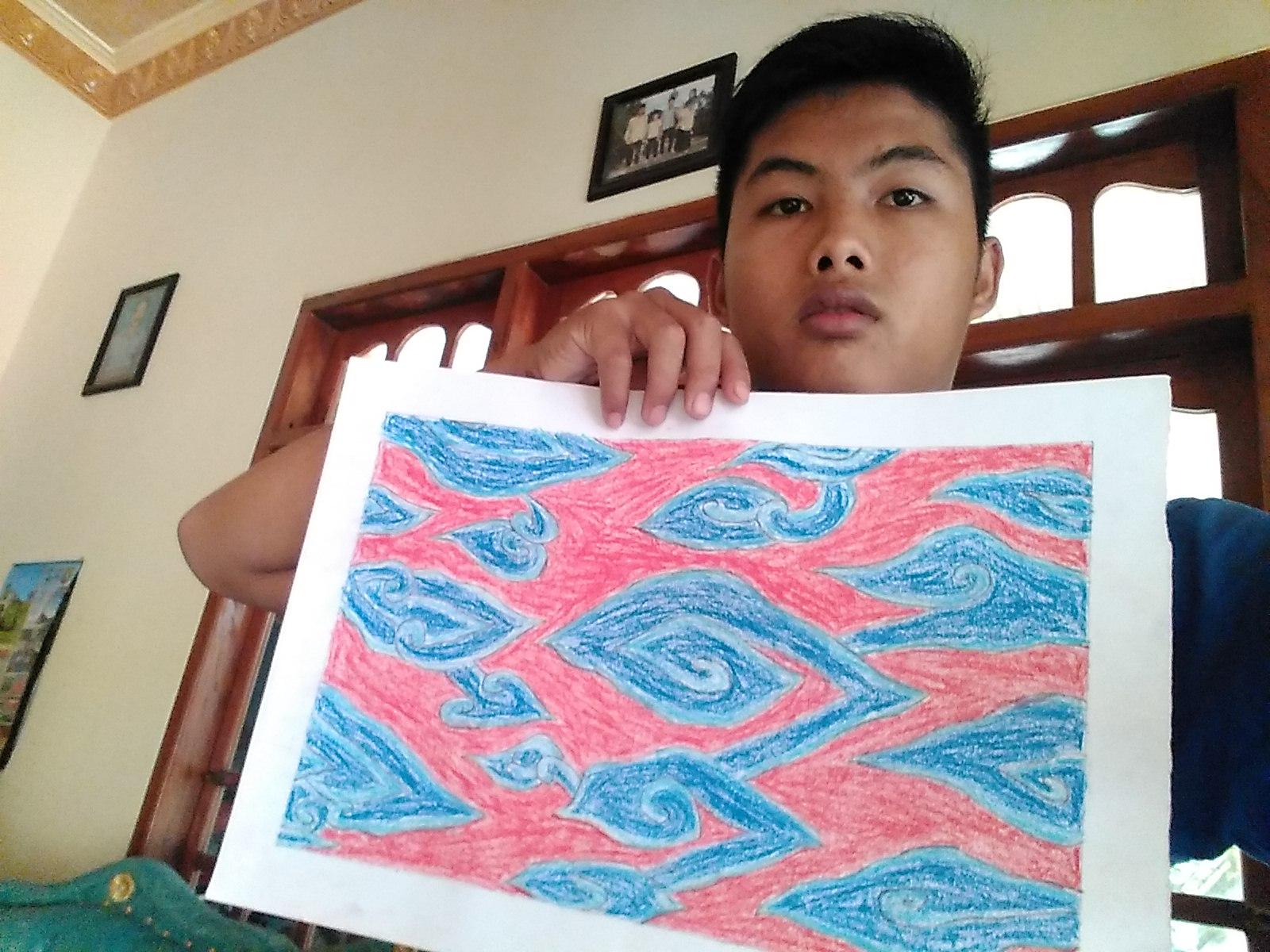 Dicky Apria Rizki Psrkpgsd 3b2016 Membatik Sederhana Batik Mega Mendung