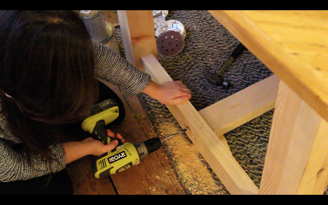 Girl Building a Dining Table