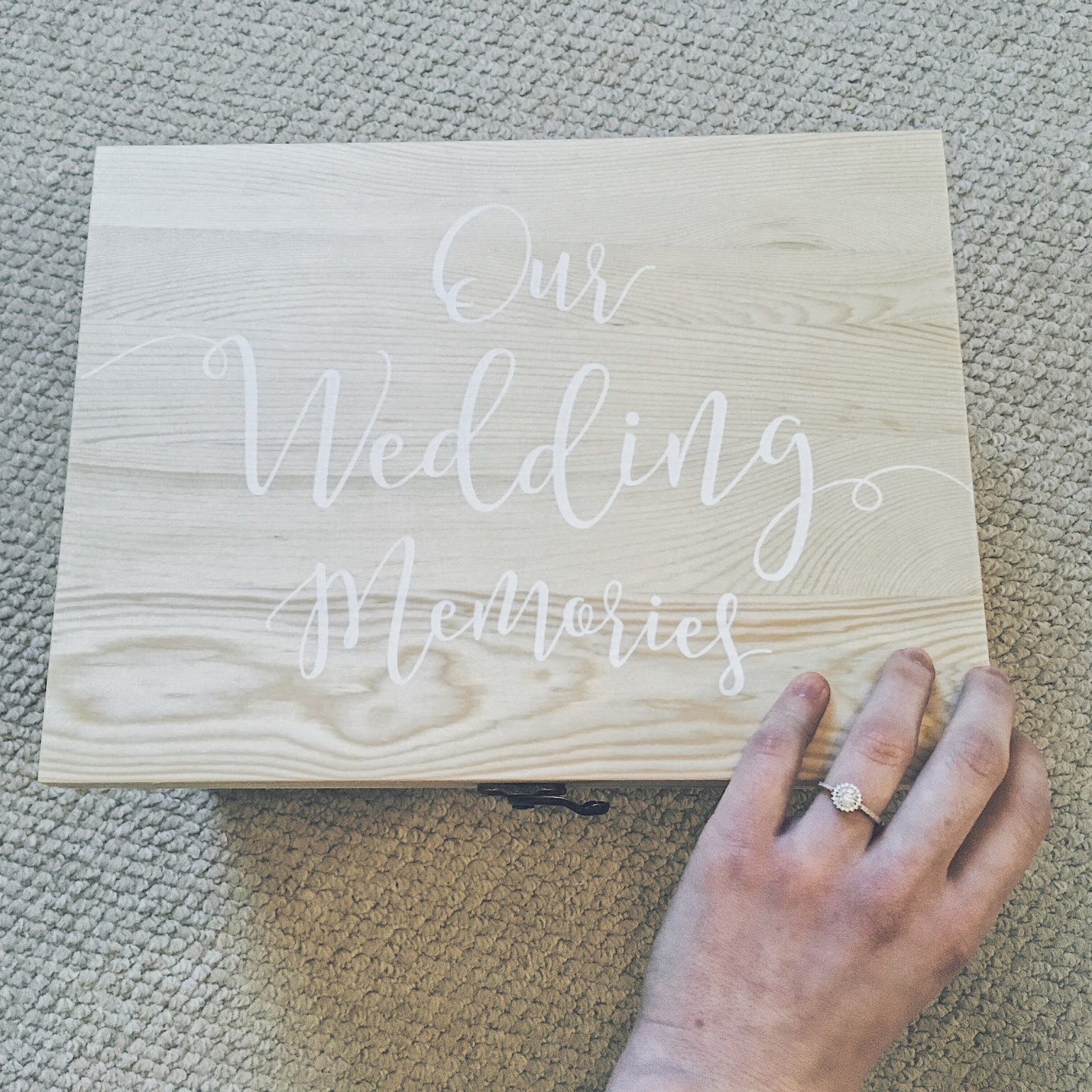 Ginger Ray Wooden Wedding Memories Box - Maggie May