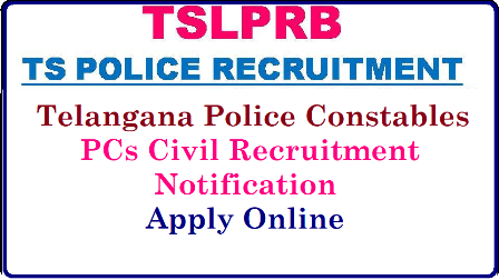 TSLPRB Telangana Police Constables PCs Civil Recruitment Notification Eligibility Online Application form Exam Dates Desirous and eligible Candidates may apply ON-LINE only by satisfying themselves with the terms and conditions of this recruitment. Detailed information regarding Syllabi, Procedure for Online Application, distribution of vacancies, selection procedure, instructions to the candidate etc., is given in the Detailed Notification made available in the website www.tslprb.in Telangana Police Recruitment Board Released Notification for Constable Vacancies in the State and Inviting Online Application Forms from Eligible candidates. Eligibility Critrea Educational Qualificartions Schedule to Apply Online Scheme of Examination Syllabus Date of Examination The Telangana State Level Police Recruitment Board (TSLPRB) invites Applications through ONLINE mode only in the prescribed proforma which will be made available on Website (www.tslprb.in) from 09-06-2018 to 30-06-2018 for recruitment of Constables tslprb-telangana-police-constables-pcs-recruitment-notification-eligibility-online-application-form-exam-dates-halltickets-answer-key-results-download-tslprb.in/2018/06/tslprb-telangana-police-constables-pcs-recruitment-notification-eligibility-online-application-form-exam-dates-halltickets-answer-key-results-download-tslprb.in.html