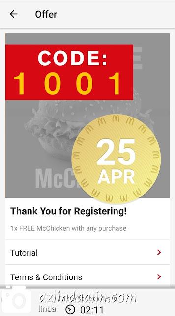 MAKAN McCHICKEN PERCUMA DI McDonald's