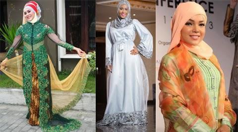 gambar baju hijab modern wanita gendut