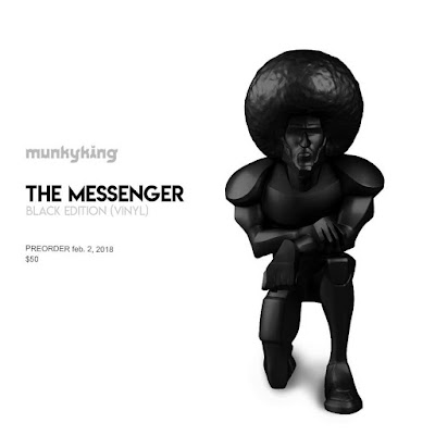 Black Edition The Messenger Vinyl Figure by Munky King x kaNO