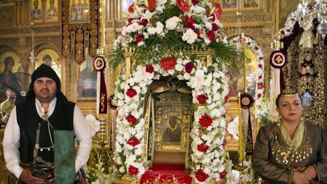 Ενθρόνιση της εικόνας της Παναγίας Σουμελά στη Δραπετσώνα με τιμές αρχηγού κράτους