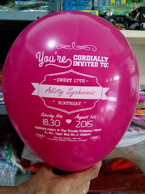Balon Printing / Balon Sablon