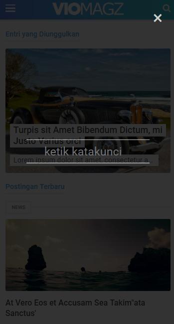 Cara Mendesain Wigdet Search Template VioMagz Mirip seperti Tema Newspaper Versi Mobile