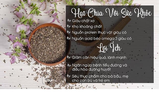 Tác dụng tuyệt vời của hạt Chia đối với sức khoẻ