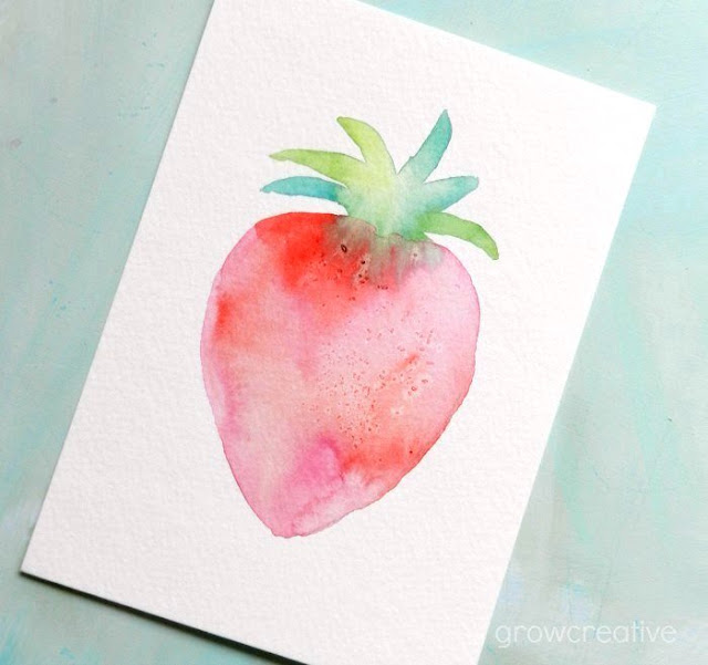 How to Paint a Watercolor Strawberry: Grow Creative