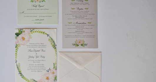 Wedding Invitations // The final product.