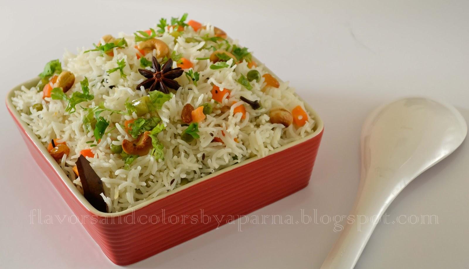 No onion garlic vegetable pulao flavors n colors no onion garlic vegetable pulao forumfinder Images