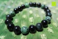 Seite: AmorWing 10mm Obsidian und Ruby Zoisit Gebetsarmband vom Einfachen Stil für Damen/Herren