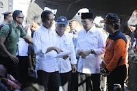 Bersama TGB, Presiden Jokowi Kunjungi Posko Bencana Gempa Bumi di Lotim