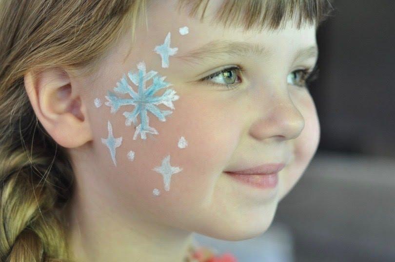 Maquillaje de copos de nieve
