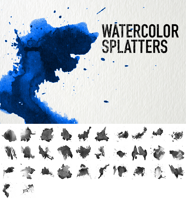 فرش ألوان مائية للفوتوشوب مجانا - Watercolor splash