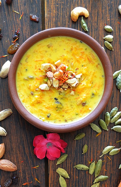 Carrot Pudding with Nuts and Spices - shewandersshefinds.com