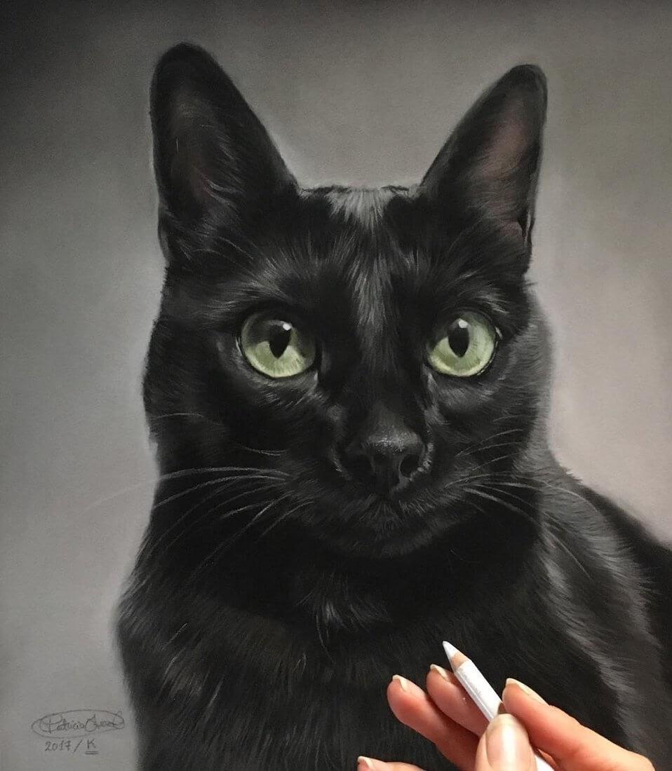 01-K-the-Black-Cat-Patricia-Otero-Cats-and-Dogs-Portrait-Artist-www-designstack-co