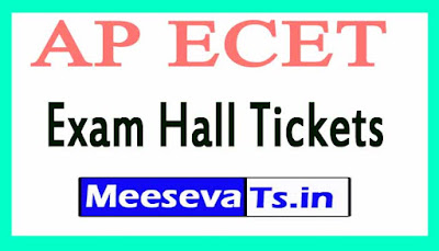 Andhra Pradesh Engineering Joint Entrance Test AP ECET Exam Hall Tickets Download