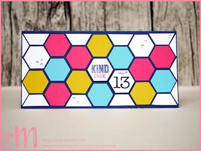 Stampin' Up! rosa Mädchen Kulmbach: Geburtstagskarte Teenager