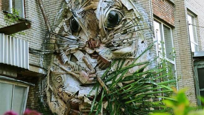 Obras de arte feitas com lixo
