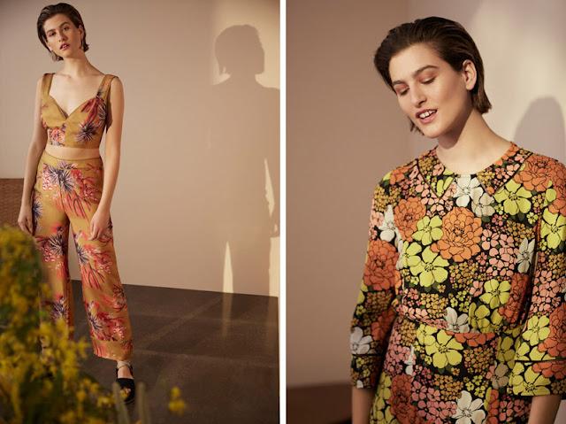 Девушка в комбинезоне и платье с цветочным принтом