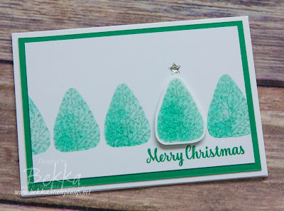 Kissed Christmas Trees featuring the Totally Trees Stamp Set from Stampin' Up! UK which you can purchase here