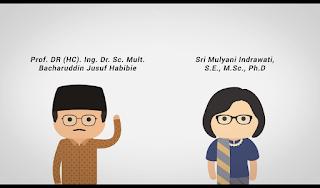 Tokoh Keren Indonesia Lulusan S3 Prof. DR (HC). Ing, Dr. Sc. Mult. Bacharuddin Jusuf Habibie dan Sri Mulyani Indrawati, S.E., M.Sc., Ph.D