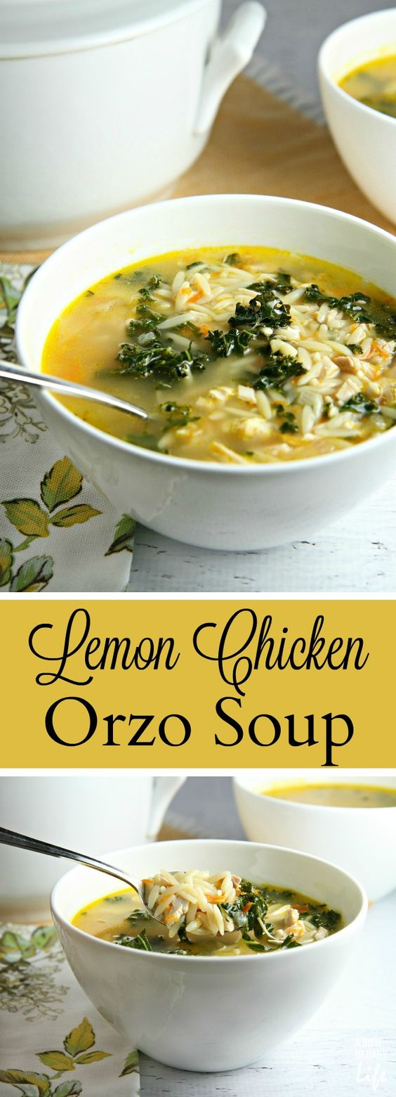 LEMON CHICKEN ORZO SOUP #lemon #chicken #orzo #soup #souprecipes #easysouprecipes
