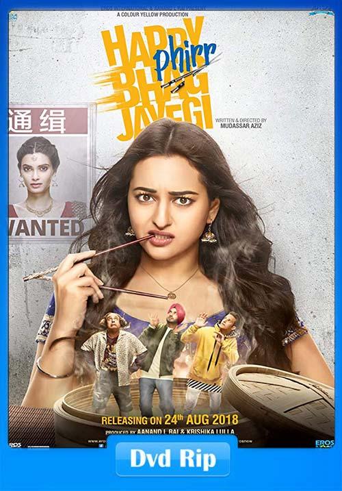 Happy Phirr Bhag Jayegi 2018 720p Hindi DVDRip   480p 300MB   100MB HEVC Poster