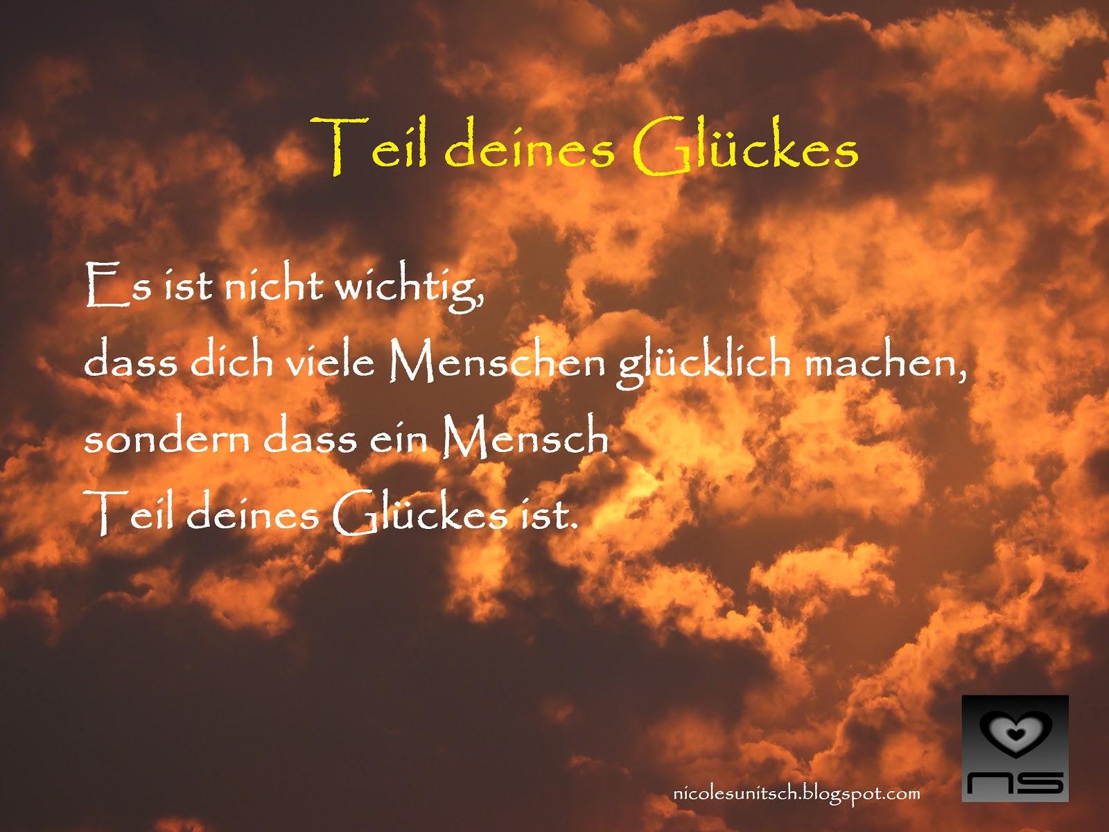 Gedichte Von Nicole Sunitsch Autorin Teil Deines Gluckes
