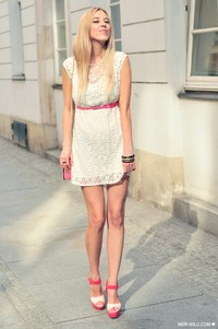 white zara dress pink zara heels