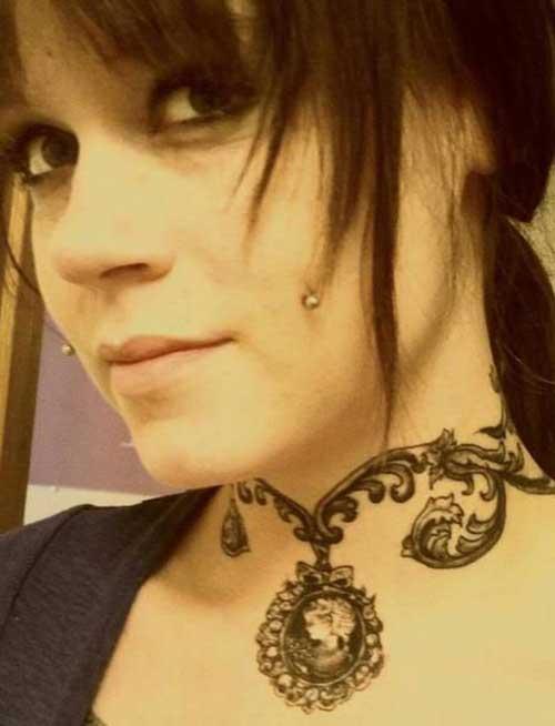 jewelry neck tattoo