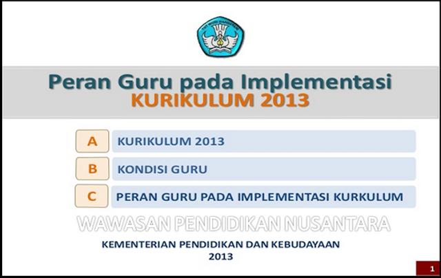 Permendikbud No 68 Tentang Peran Guru Dalam Implementasi Kurikulum 2013