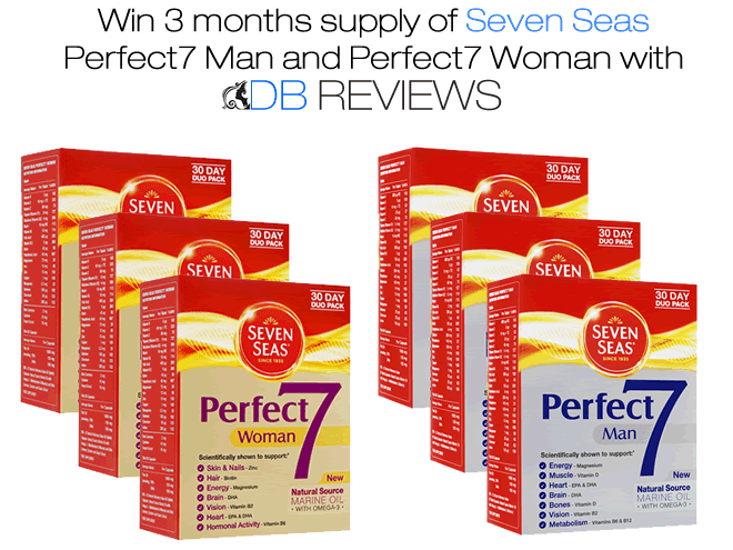 Win 3 Months Supply of Seven Seas Perfect7 Man and Perfect7 Woman Supplements
