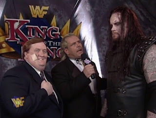 WWE / WWF - King of the Ring 1997 - Doc Hendrix interviews The Undertaker & Paul Bearer