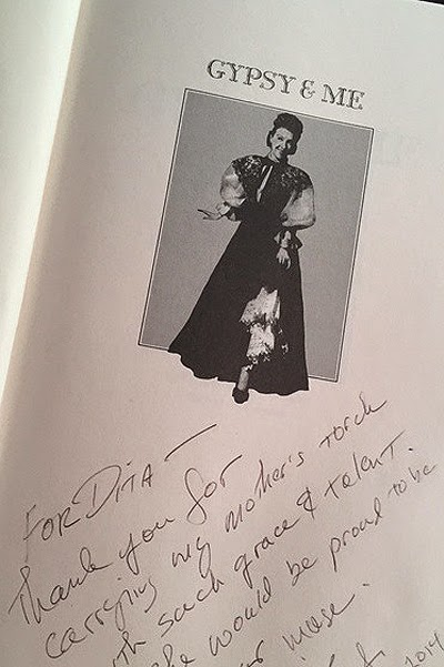 photo book about Gypsy Rose Lily autographed son of famous actress