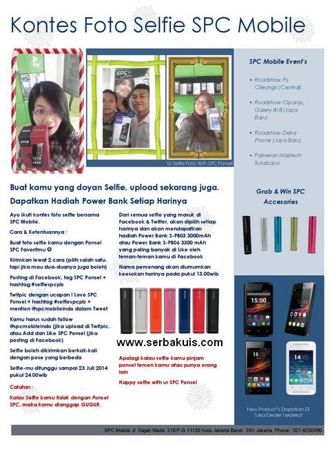Kontes Selfie SPC Berhadiah Powerbank Setiap Hari