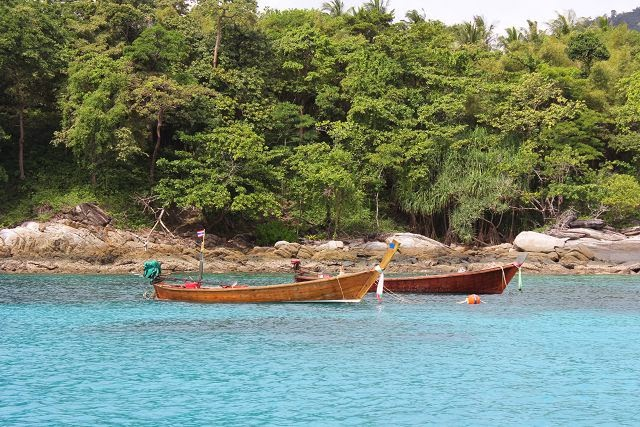 Longtail boats at Racha Yai Island