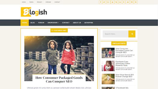Blogish Blogger Teması