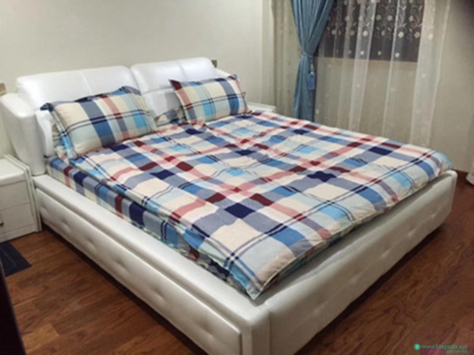 Giường ngủ bọc da hiện đại - BS06