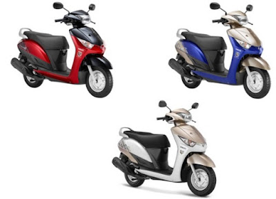 Yamaha Alpha Scooter three colours Hd image