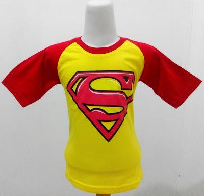 Kaos Raglan Anak Karakter Superman 5 Kuning